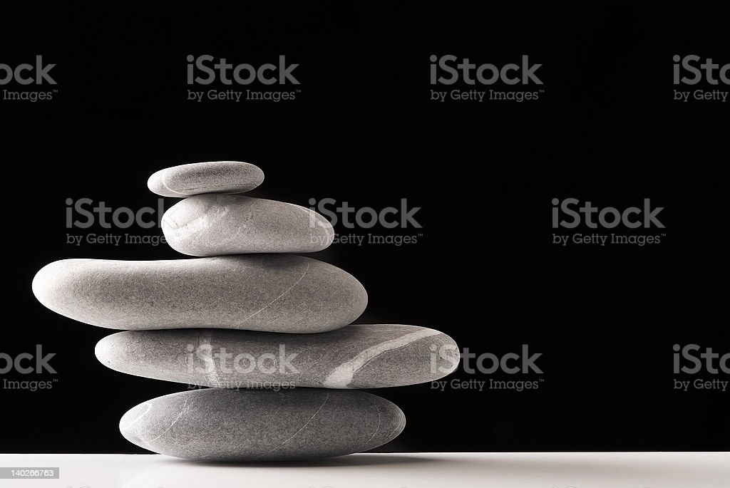 stones pile over black royalty-free stock photo