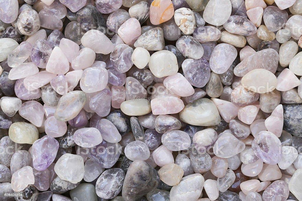 stones quartz, marbles, ore minerals, gems decoration jewelry stock photo