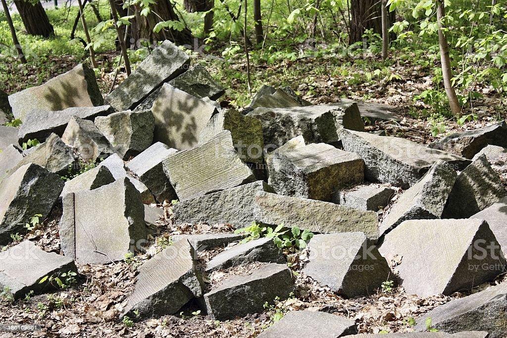 Stones rocks ruins royalty-free stock photo