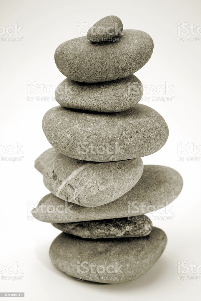 Stones stacked stock photo