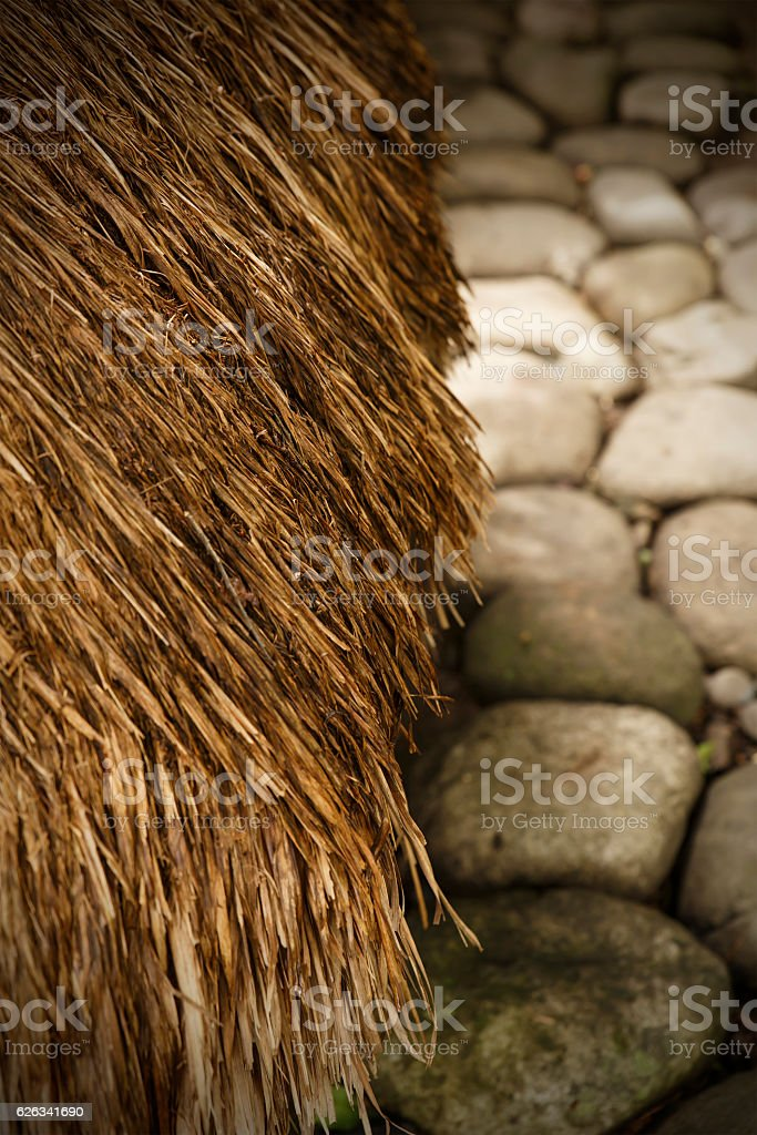stones & straw-bontoc stock photo
