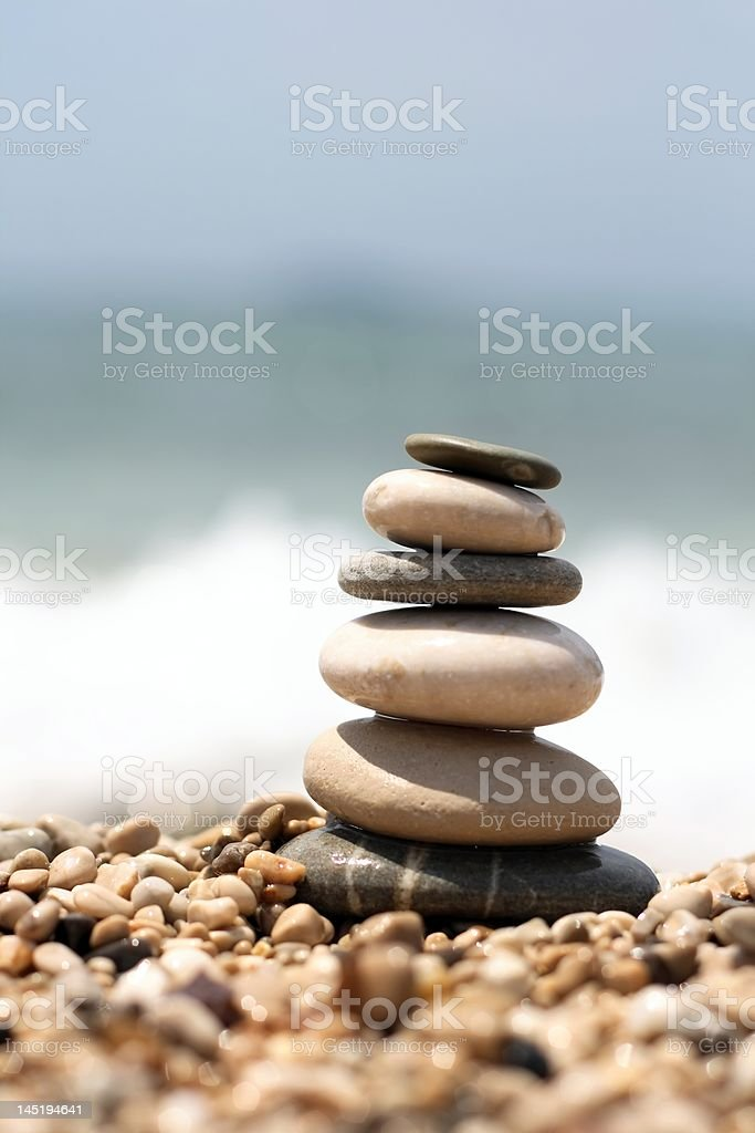 Stones tower royalty-free stock photo