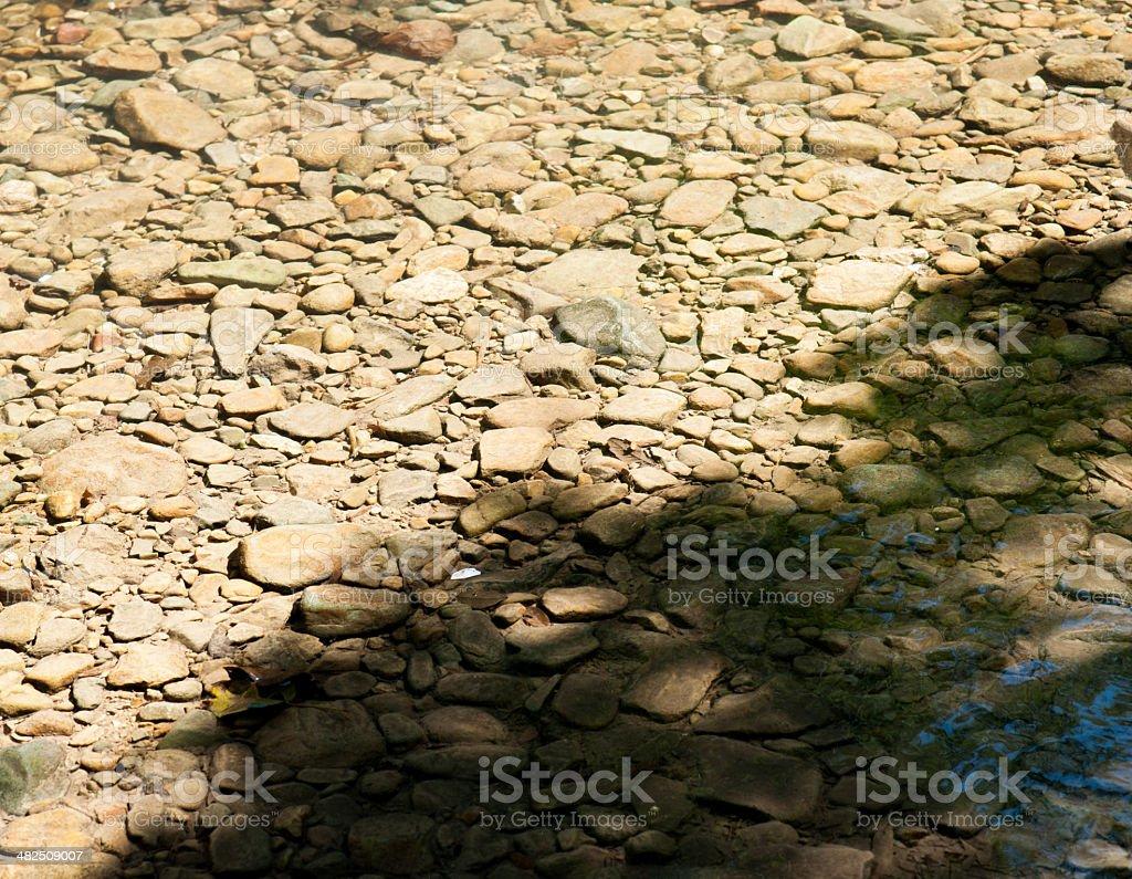 Stones under water. Background. stock photo