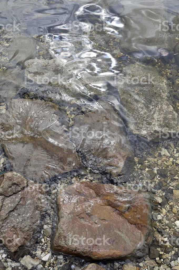 Stones underwater royalty-free stock photo