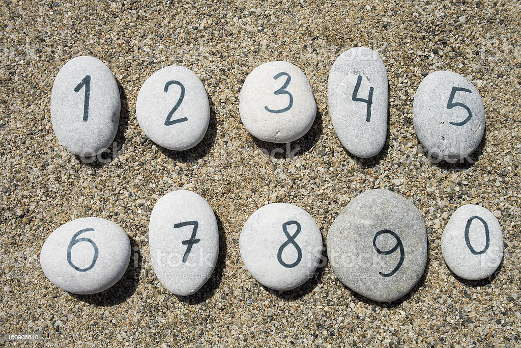 Stones with sand background royalty-free stock photo