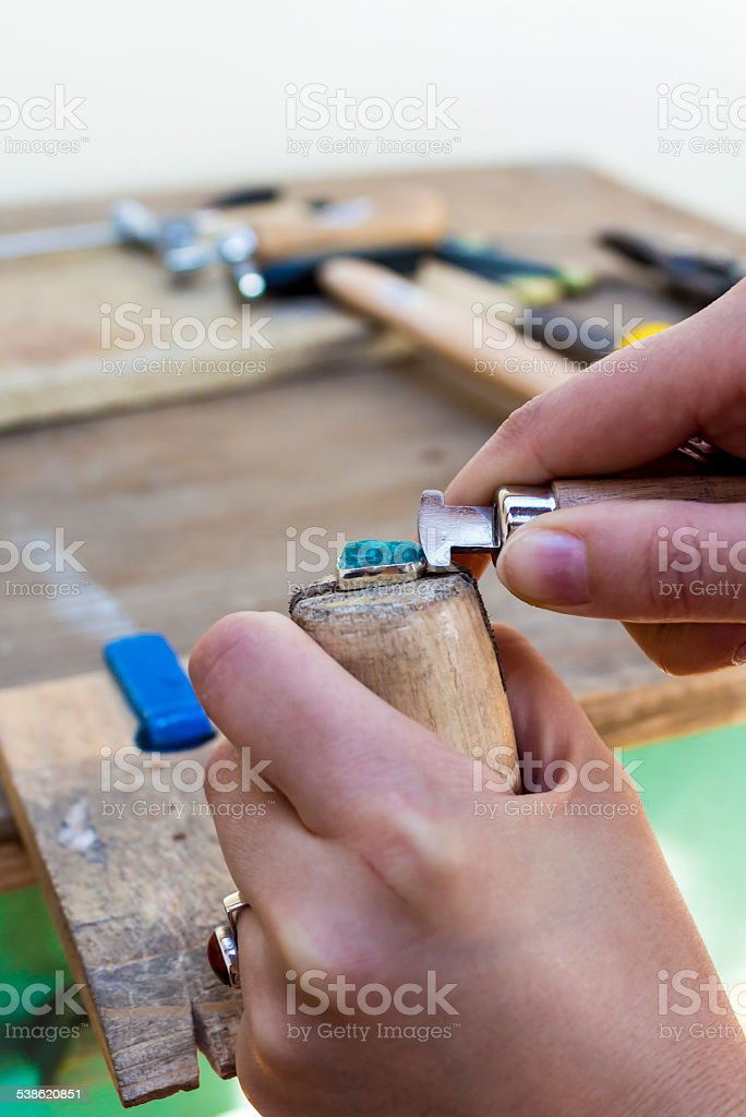 Stonesetting stock photo