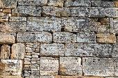 Stonewall background pattern, stone stacked, irregular sizes, rectangle