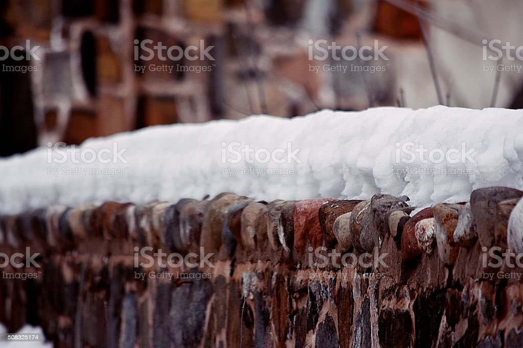 stonewall covered royalty-free stock photo