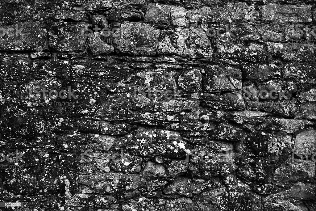 Stonewall in black and white royalty-free stock photo