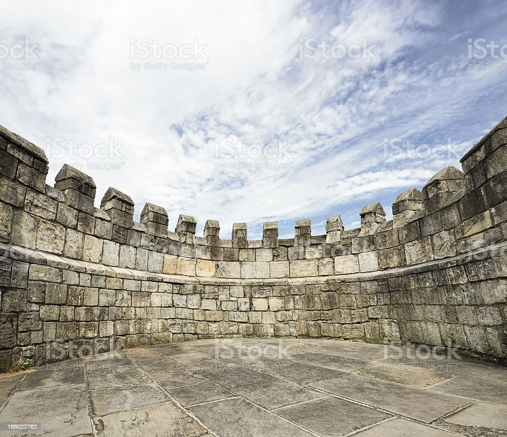 'Stonewalled' - Surrounded By Wall royalty-free stock photo