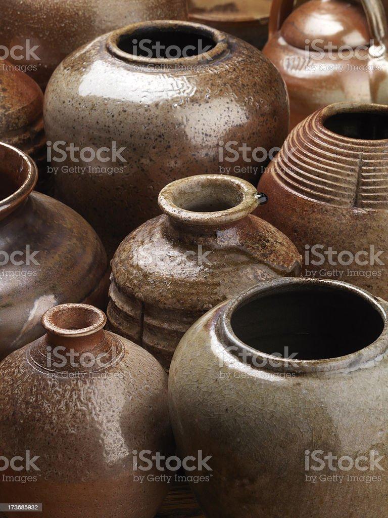 Stoneware Pottery royalty-free stock photo