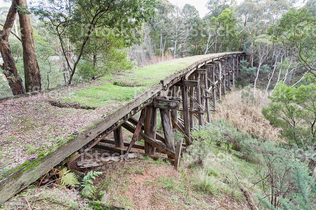 Stoney creek bridge near Nowa Nowa stock photo
