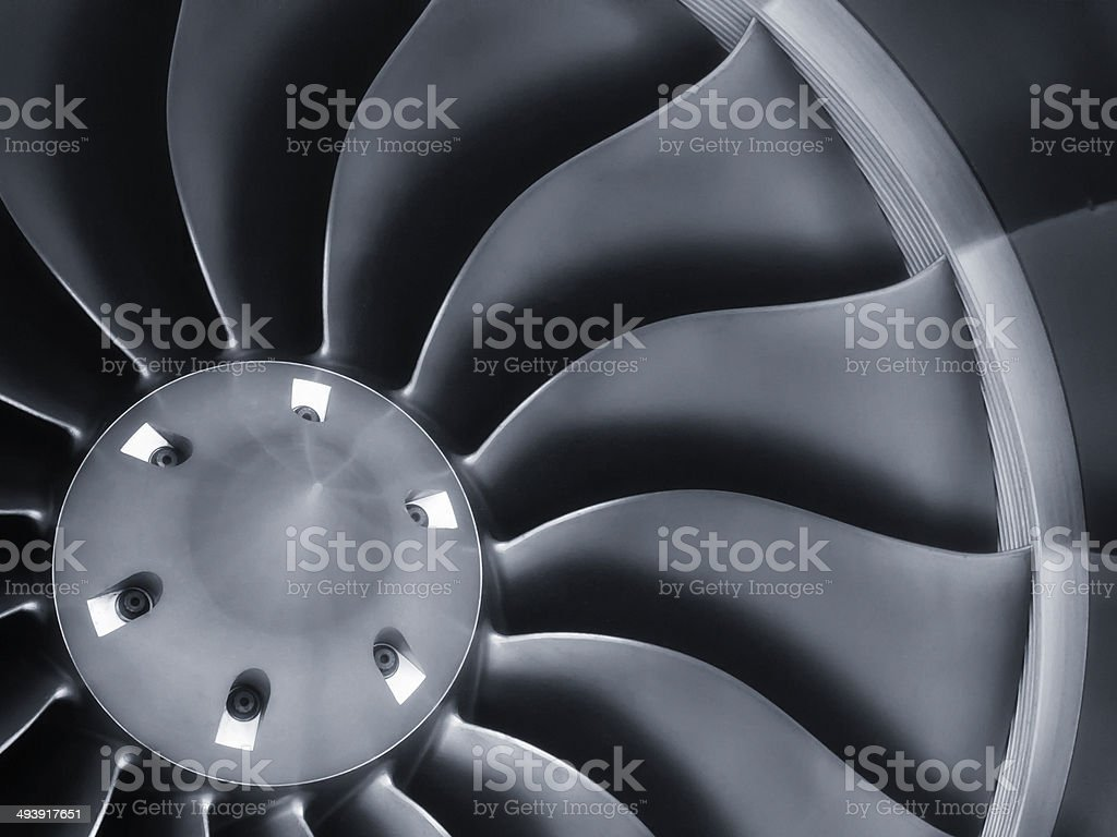 Stong Graphic Business Jet Aircraft Engine Background Image stock photo