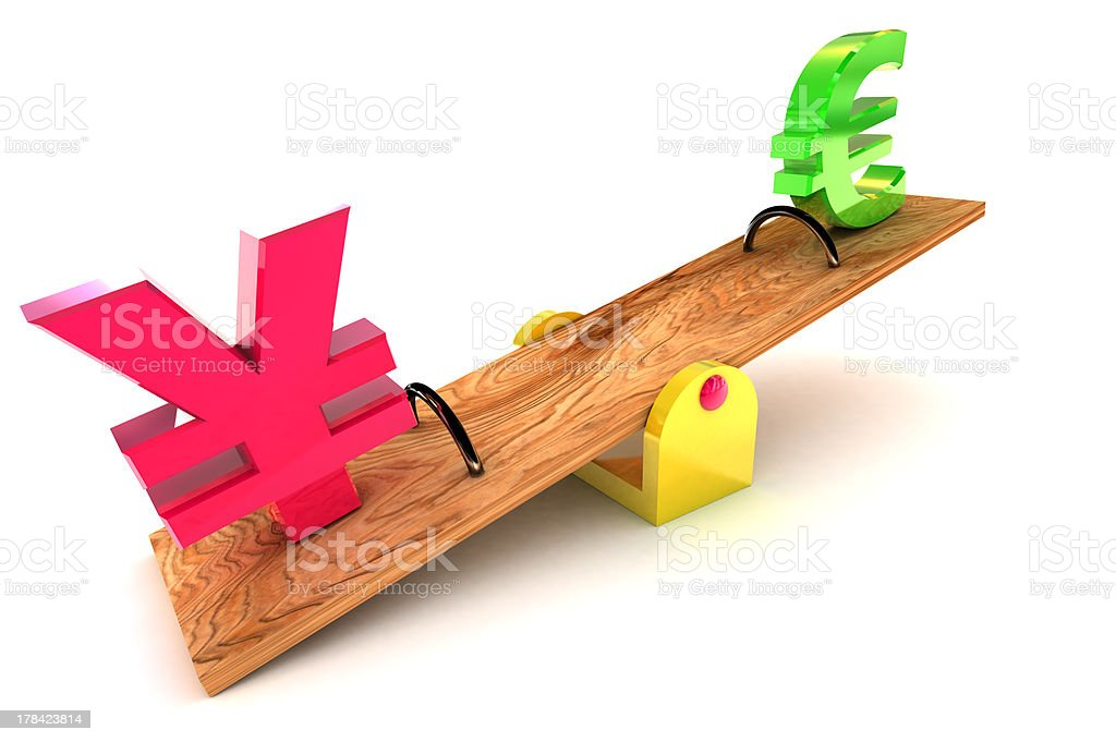 Stong Yen / Euro royalty-free stock photo