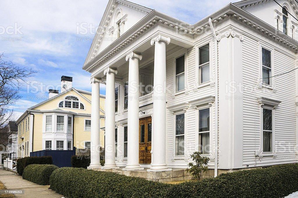 Stonington Borough Homes royalty-free stock photo