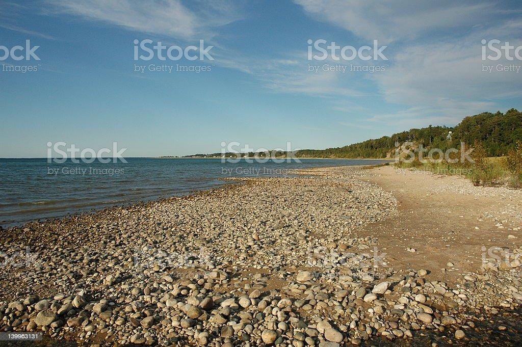 Stony Beach stock photo