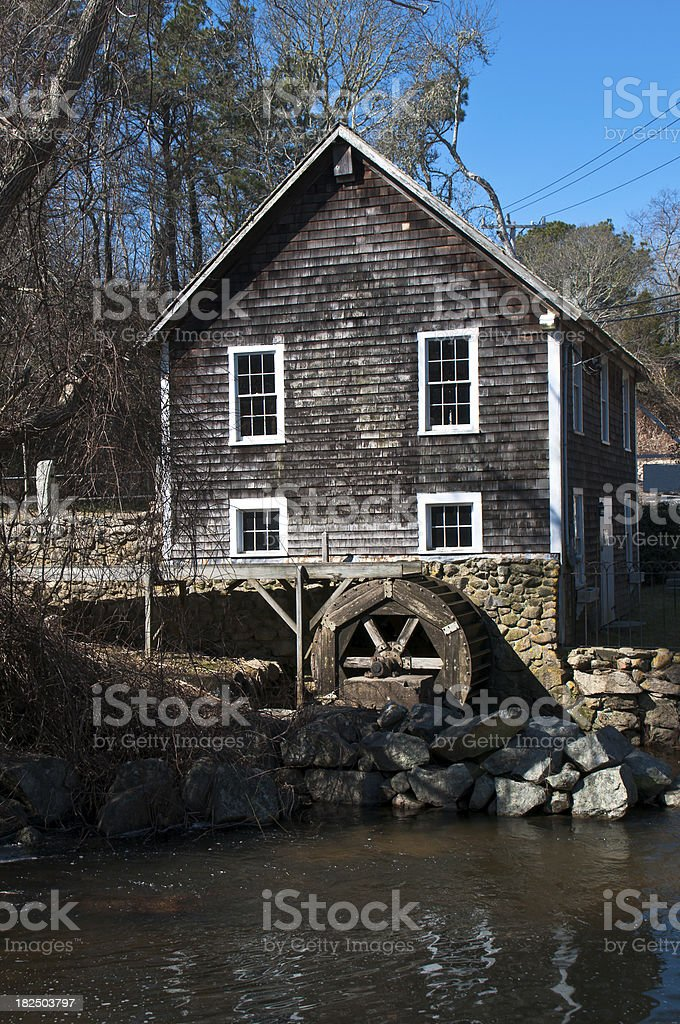 Stony Brook Grist Mill stock photo