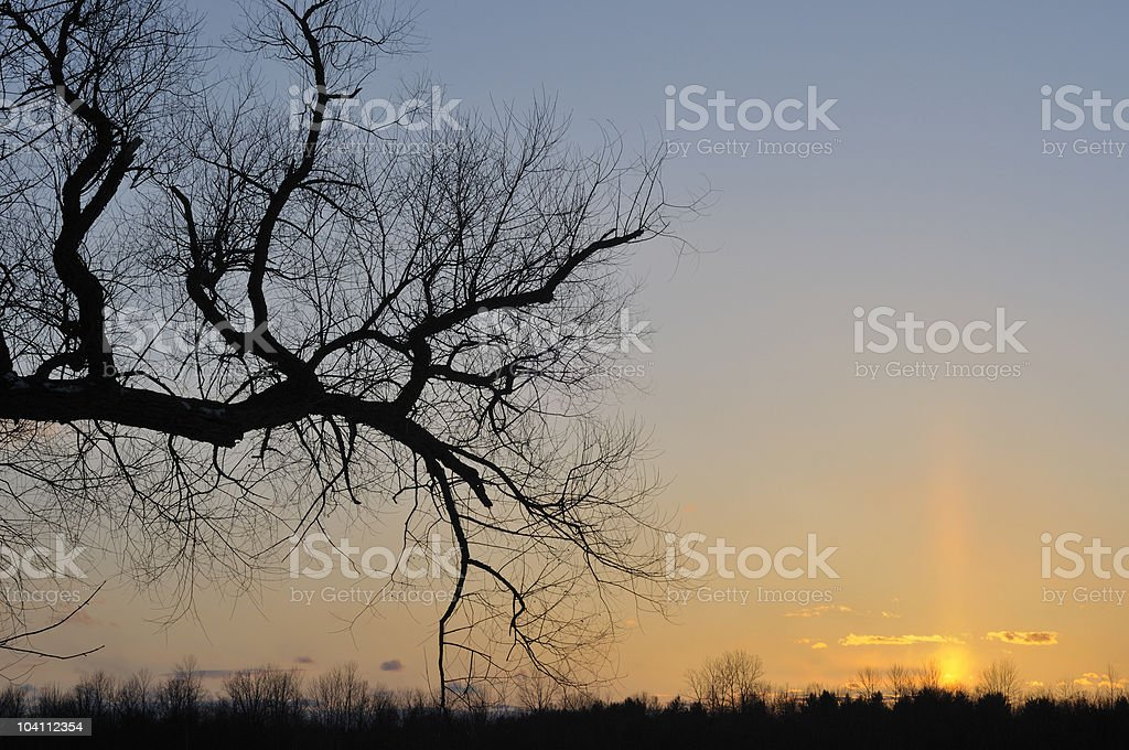 Stony Creek Sunset royalty-free stock photo
