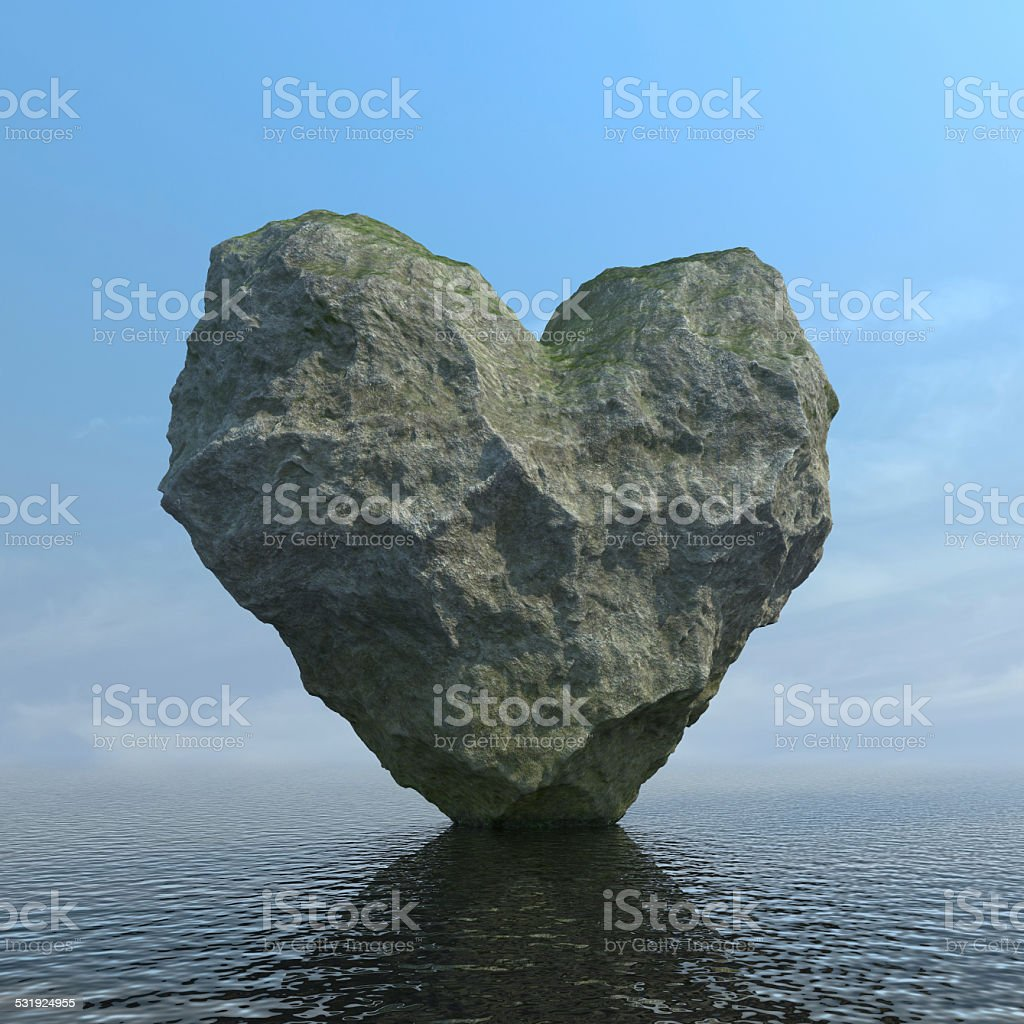 Stony heart stock photo