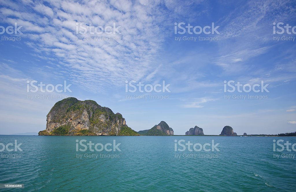Stony Island,  Trang Province, Thailand royalty-free stock photo