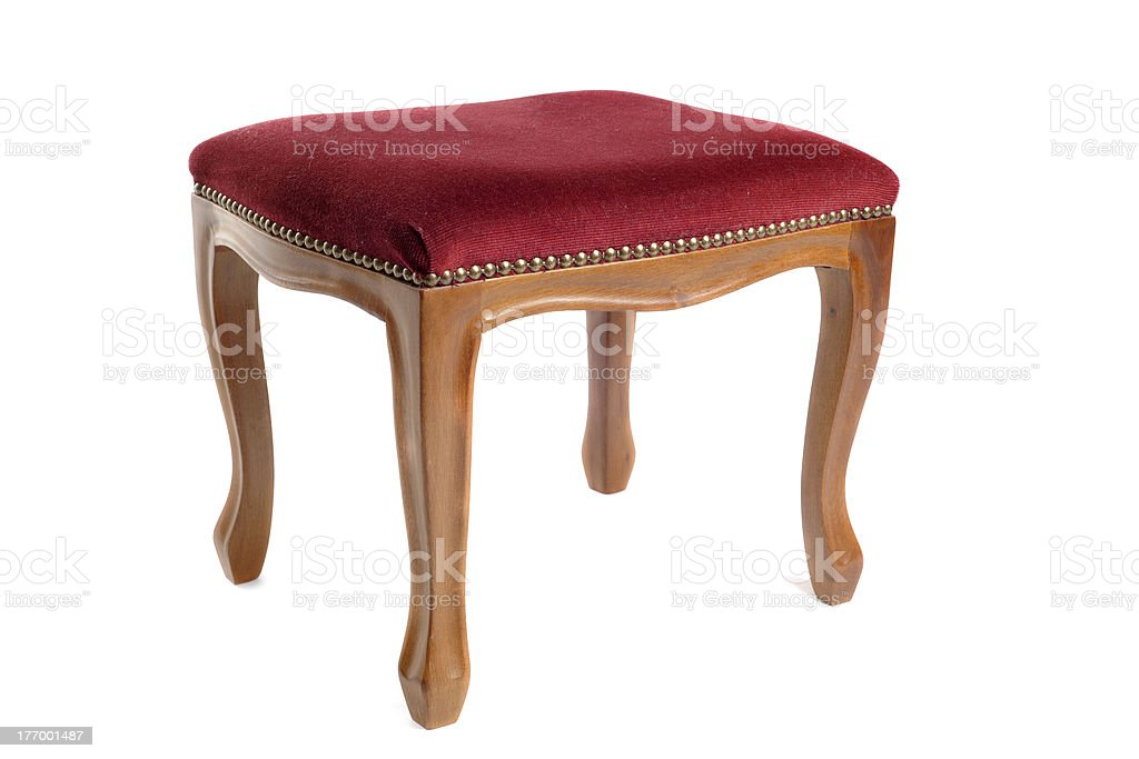 stool in velvet stock photo