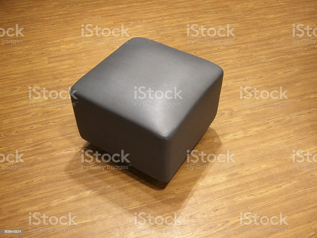 stool on parquet background royalty-free stock photo