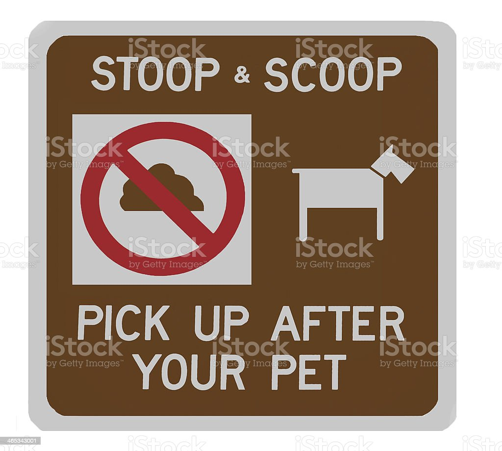 Stoop & scoop sign royalty-free stock photo