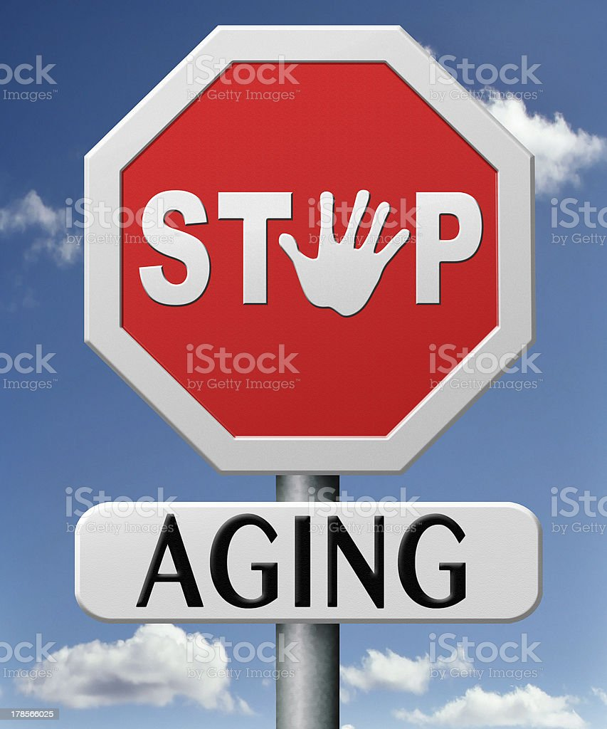 stop aging stock photo
