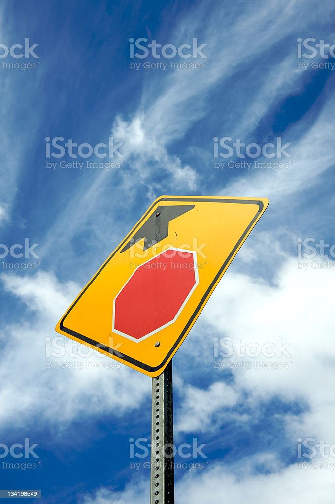 Stop ahead sign royalty-free stock photo
