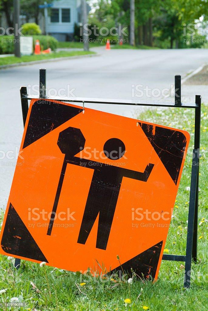 Stop Ahead Warning Sign royalty-free stock photo