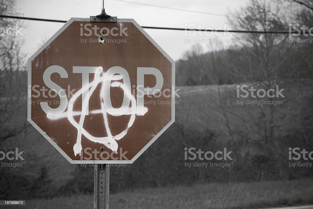Stop Anarchy stock photo