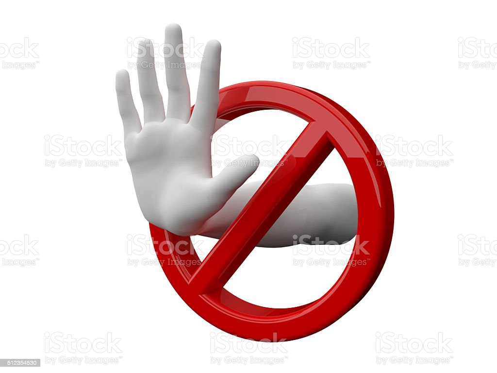 Stop and Forbidden stock photo