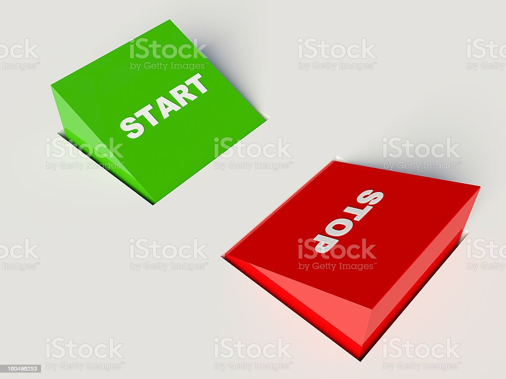 stop and start buttons royalty-free stock photo