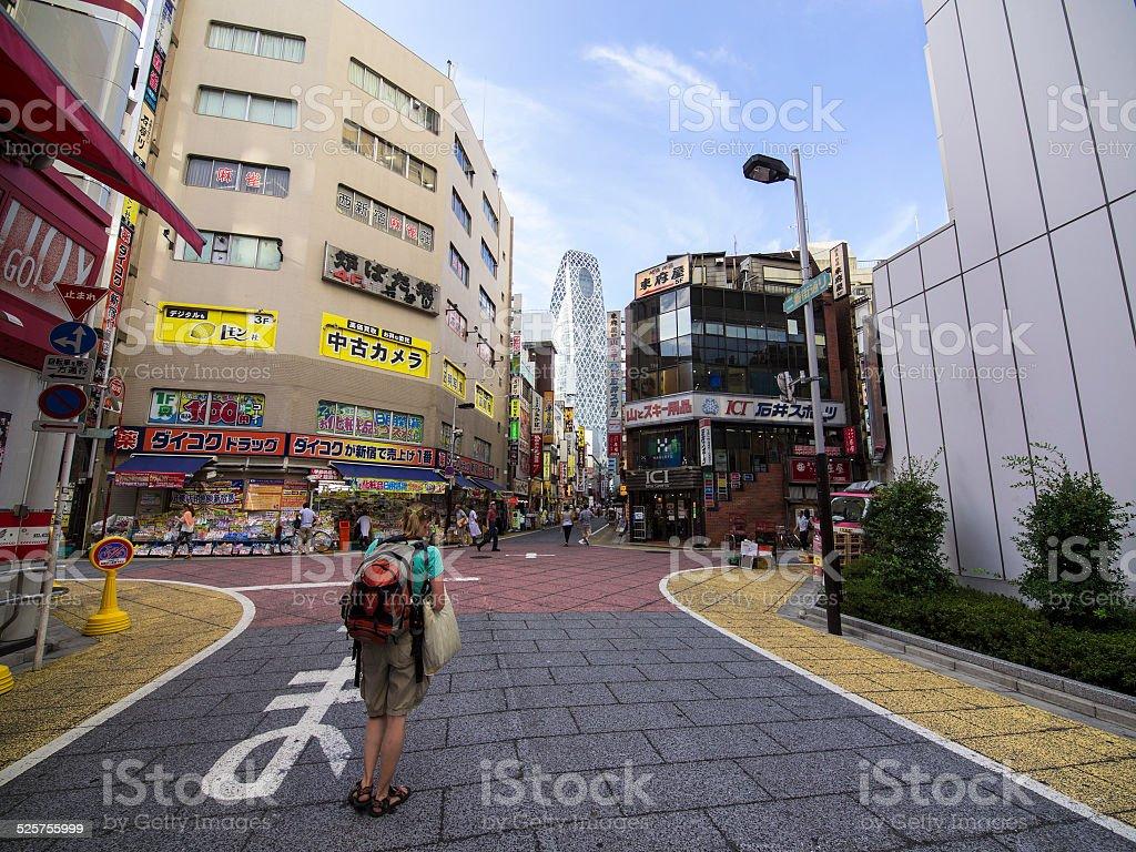 Stop at Shinjuku stock photo
