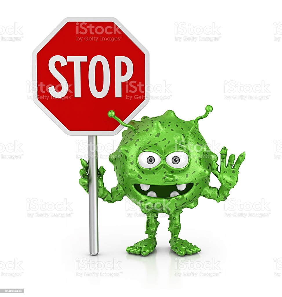 stop bacterium stock photo
