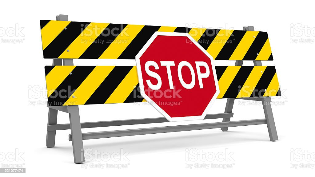 Stop barrier stock photo