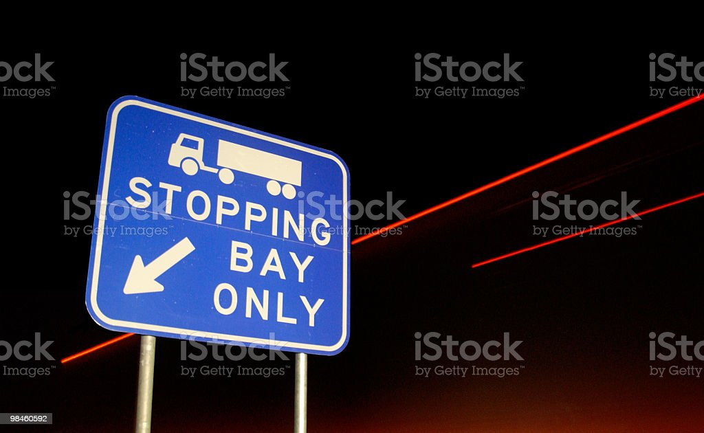 Stop Bay Sign royalty-free stock photo