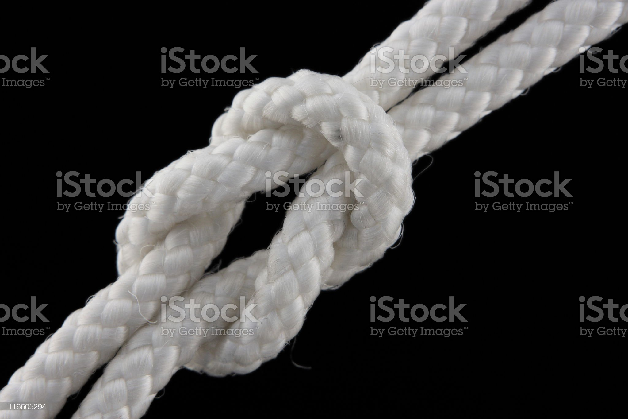 Stop Bend Square Reef Knot royalty-free stock photo