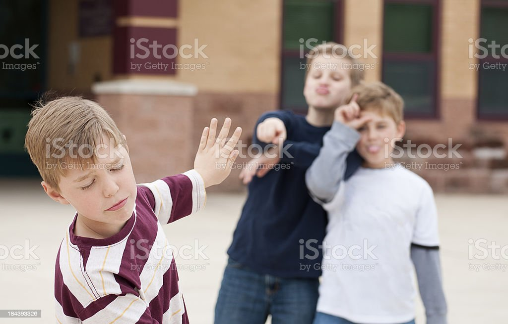 Stop Bullying Me! royalty-free stock photo