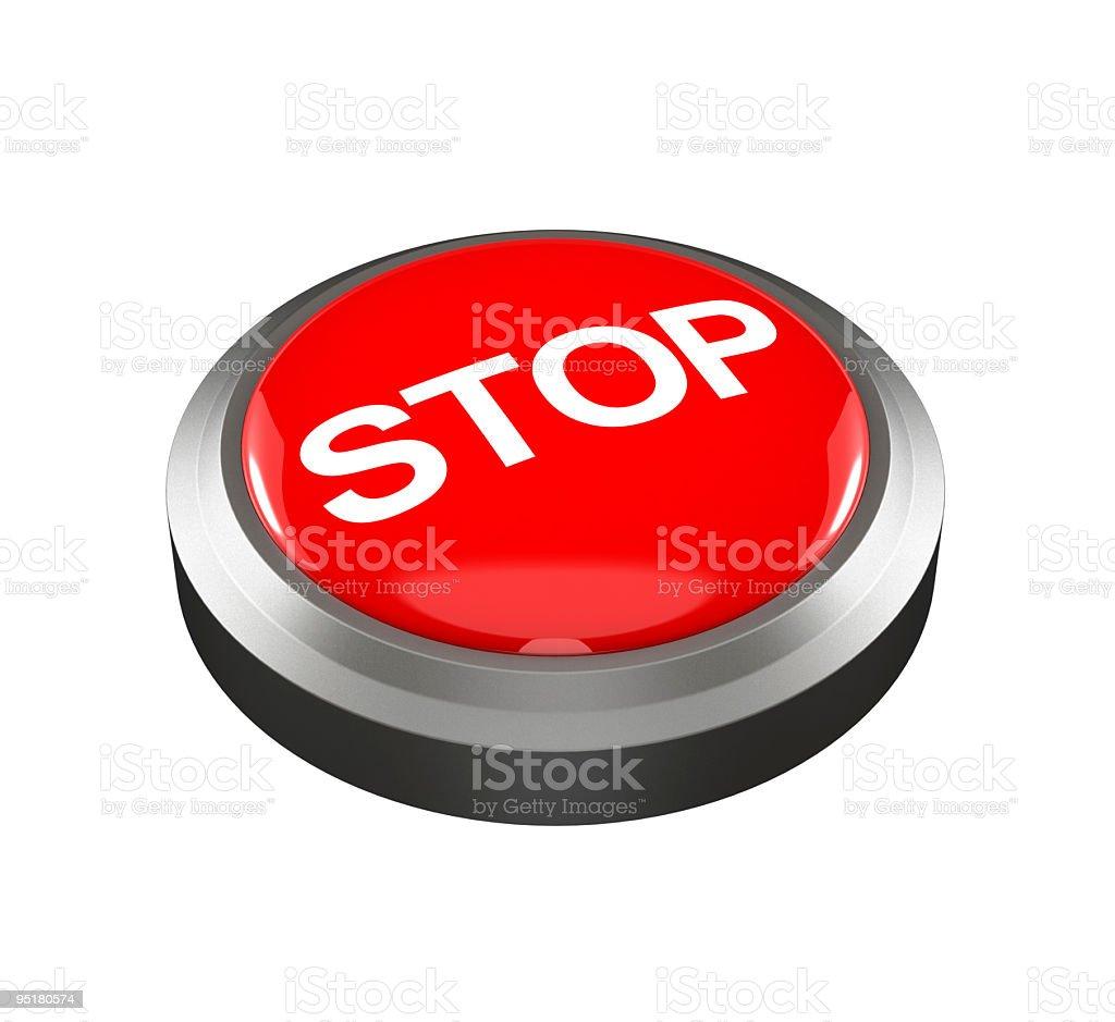 Stop Button stock photo