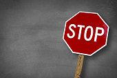 Stop chalk board