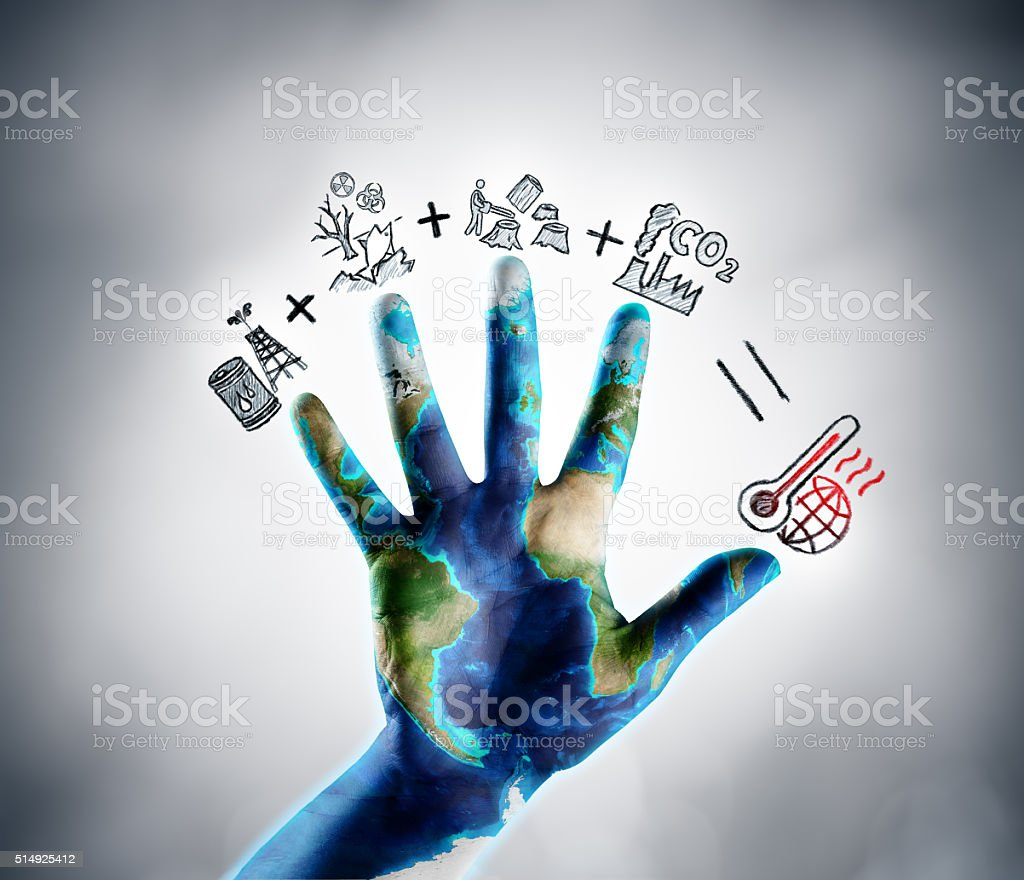 Stop Climate Change - Earth Day Theme stock photo