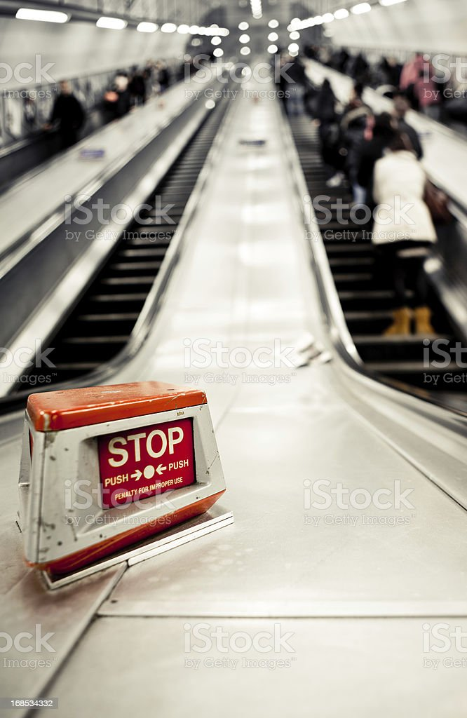 Stop commuting stock photo