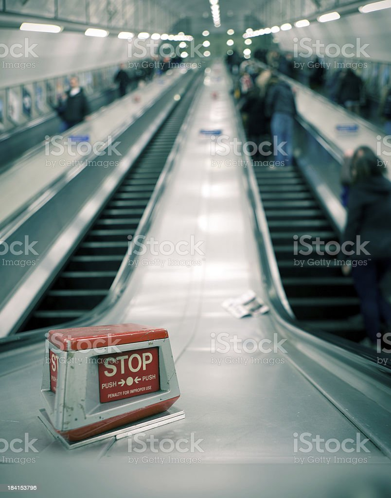 Stop commuting royalty-free stock photo