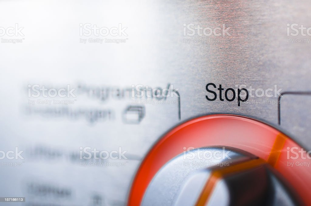 Stop control dial stock photo