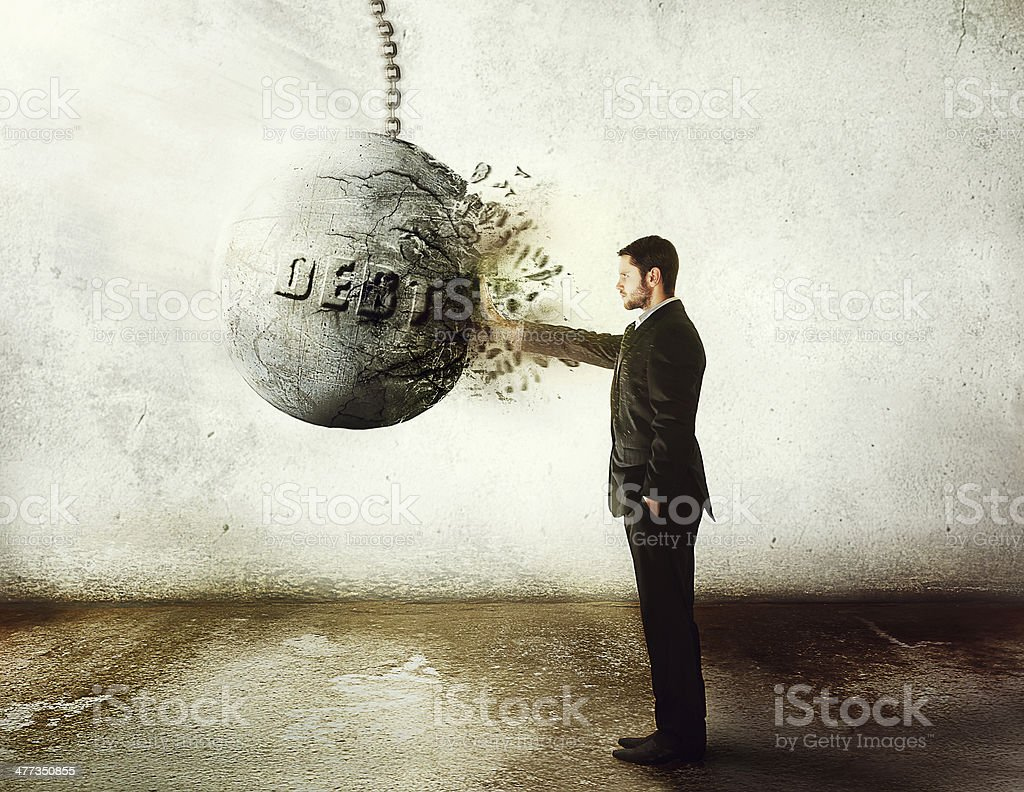stop debt! stock photo