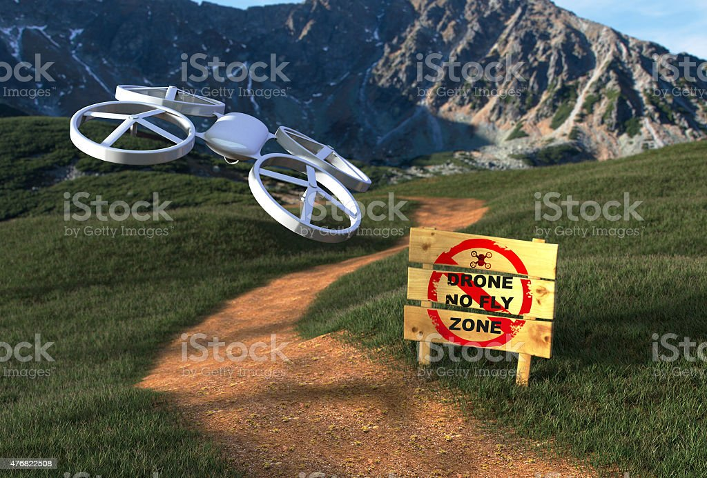 Stop drone - Fighting Against The Drone stock photo