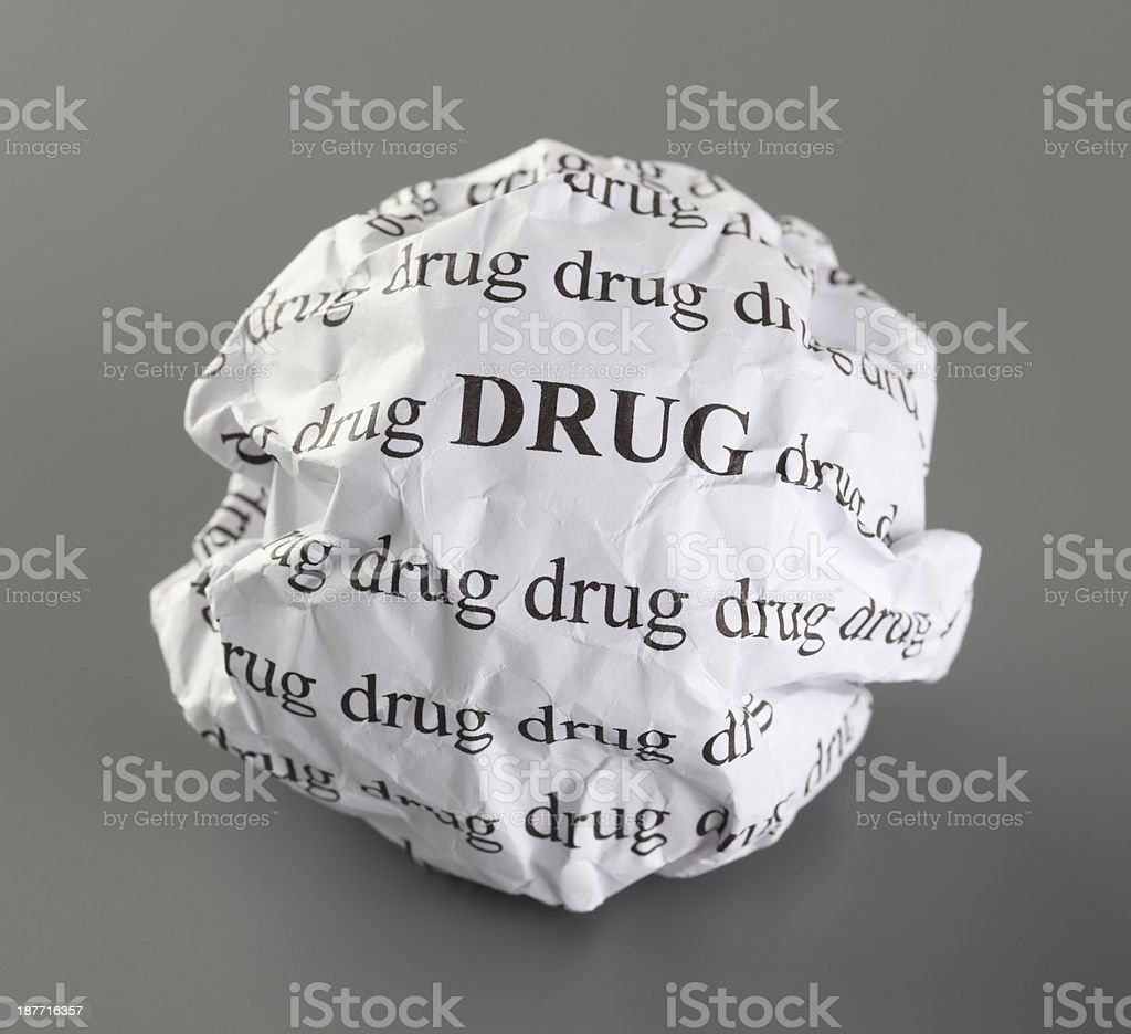 Stop drug royalty-free stock photo