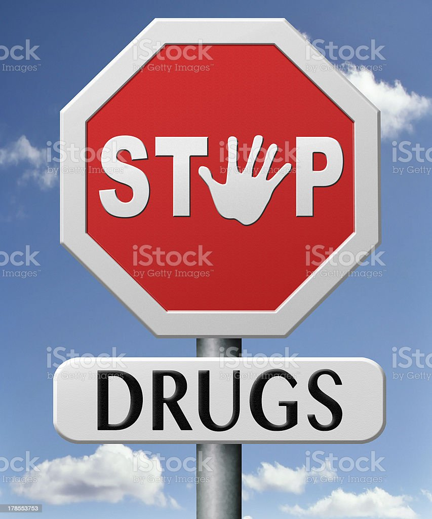 stop drugs royalty-free stock photo