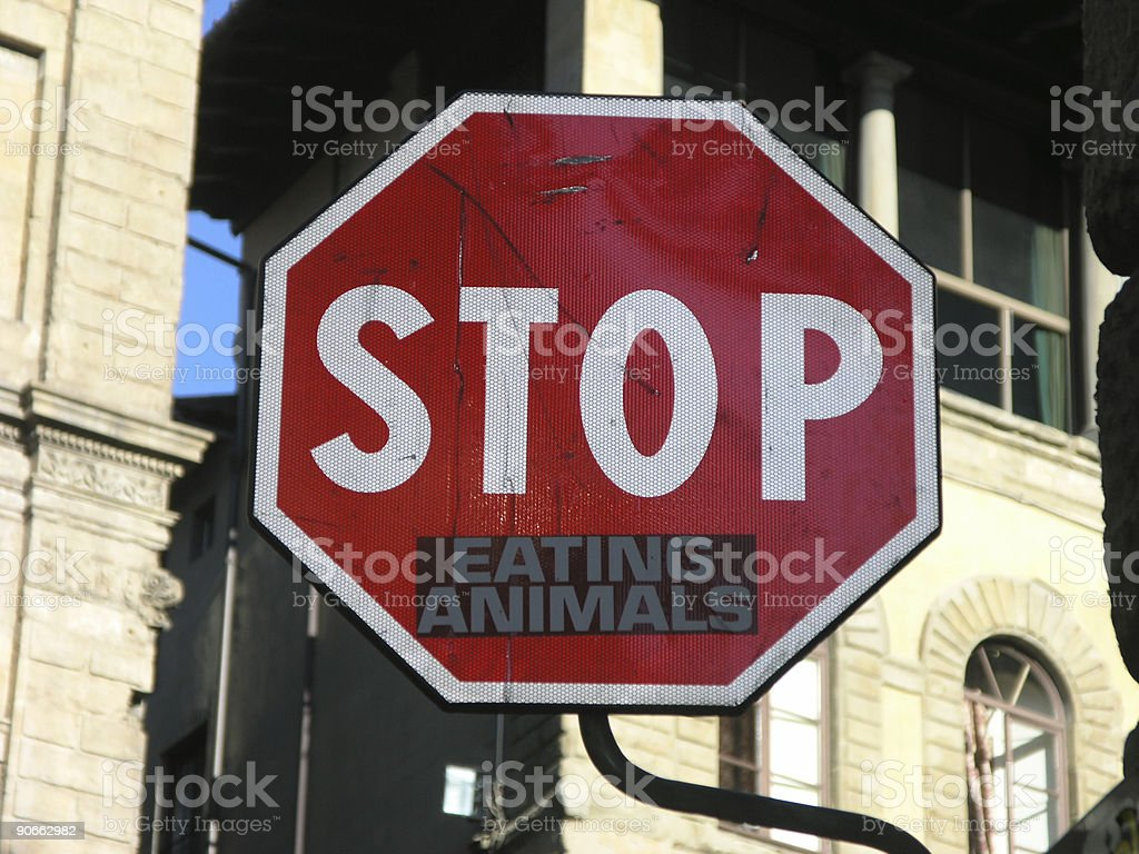 Stop Eating Animals stock photo
